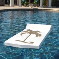 FLOAT PRODUCTS Luxe Sunsation Float - White w/Bronze Palm Tree