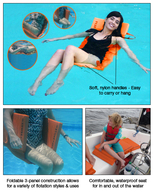 FLOAT PRODUCTS Orange Flip & Float Water Lounge